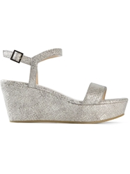 Lola Cruz Wedge Sandals Grey