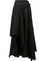 Barbara I Gongini Asymmetric Maxi Skirt Black