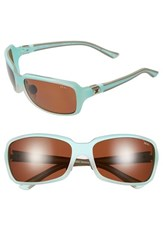 Women's Zeal Optics 'Zeta' 61Mm Plant Based Polarized Sunglasses Matte Aqua Green