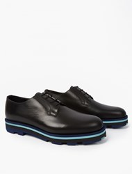 Valentino Contrast Sole Derby Shoes Black
