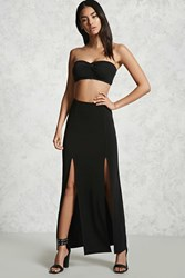 Forever 21 M Slit Maxi Skirt Black Onerror Javascript Fnremovedom 'Colorid_03