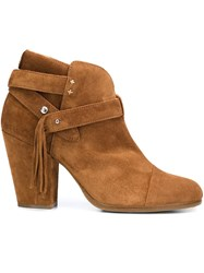 Rag And Bone Fringed Ankle Boots Brown