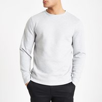 River Island Grey Marl Crew Neck Sweatshirt