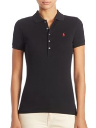 Polo Ralph Lauren Stretch Cotton Shirt Polo Black