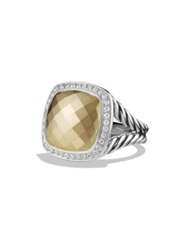 David Yurman Albion Ring With Diamonds And Gold Gold Dome