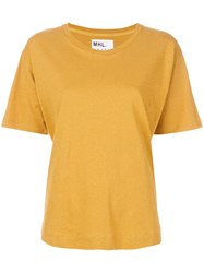 Margaret Howell Loose T Shirt Yellow And Orange