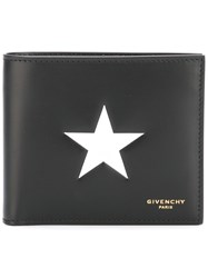 Givenchy Star Print Billfold Wallet Black