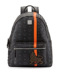 Munich Lion Backpack Black Mcm
