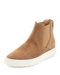 Vince Newlyn Hidden Wedge High Top Sneaker Sand Brown Women's