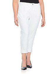 Lafayette 148 New York Plus Size Curvy Double Cuffed Jeans White