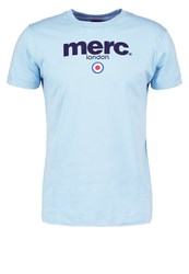Merc Brighton Print Tshirt Sky Light Blue
