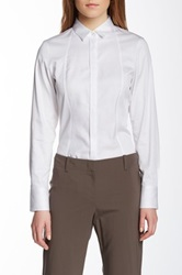 Hugo Boss Birgitta Spread Collar Blouse White