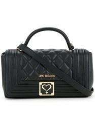 Love Moschino Quilted Tote Women Polyurethane One Size Black