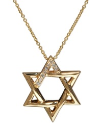 Effy Collection Effy Diamond Accent Star Of David Pendant In 14K Gold