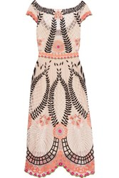 Temperley London Belle Embroidered Tulle Midi Dress Multi