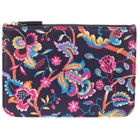 John Lewis Tove Leather Coin Pouch Flower Print
