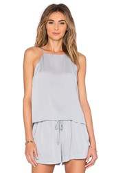 Milly Trapeze Top Light Gray