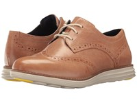 Cole Haan Original Grand Wingtip Natural Vachetta Fog Women's Lace Up Wing Tip Shoes Brown