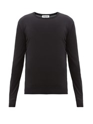 Lanvin Embroidered Logo Wool Sweater Black
