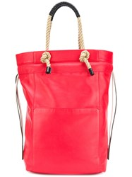 Ports 1961 Rope Handle Tote Bag Red