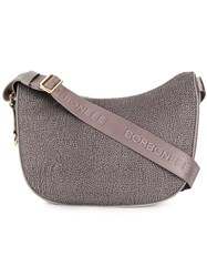 Borbonese Hobo Shoulder Bag Grey