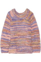 Michael Kors Oversized Mohair And Wool Blend Sweater Pink