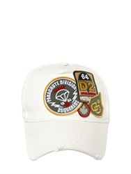 Dsquared Military Patches Canvas Baseball Hat