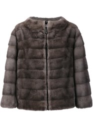 J. Mendel Reversible Zipped Jacket Grey