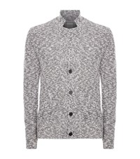 Wooyoungmi Woven Speckled Cardigan Male Silver