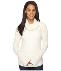 Mountain Khakis Countryside Cowl Neck Sweater Cream Women's Sweater Beige