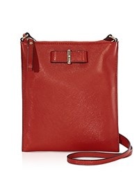 Karen Millen Bow Leather Crossbody Red