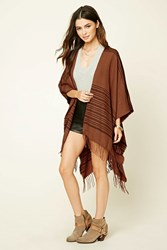 Forever 21 Striped Wool Shawl