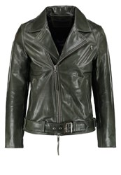 Tiger Of Sweden Jeans Hellish Leather Jacket Black Olive