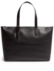 Smythson Burlington Leather Tote Black