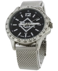 Game Time Tampa Bay Rays Cage Series Watch Silver Black