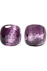 Pomellato Nudo 18 Karat Rose Gold Amethyst Earrings One Size