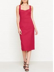 Lk Bennett L.K. Marlowe Fitted Dress Red Roca Red