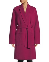 A.L.C. Paige Belted Wool Blend Coat Magenta