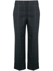 Peserico Check Crop Trousers Black