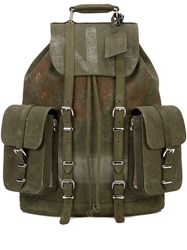 Readymade Distressed Back Pack Green