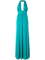 Marco Bologna Plunge Slit Gown Green
