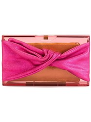 Charlotte Olympia Twisted Effect Clutch Pink