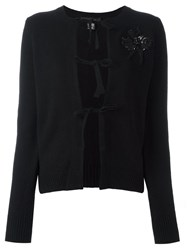 Marc Jacobs Sequin Ballerina Patch Cardigan Black