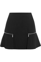 Michael Michael Kors Zip Embellished Stretch Jersey Mini Skirt