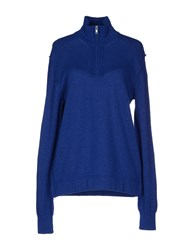 Blauer Turtlenecks Blue
