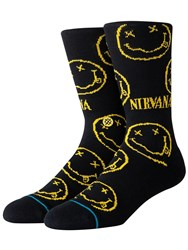 Stance Nirvana Face Socks Black
