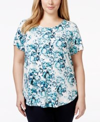 Alfani Plus Size Printed T Shirt Only At Macy's Paint Blooms