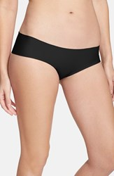 Women's Halogen 'No Show' Cheeky Hipster Briefs Black