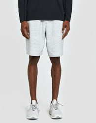 Reigning Champ Short Heather Bonded Terry In Sky Grey