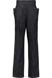 J.W.Anderson Pleated Denim Wide Leg Pants Dark Denim